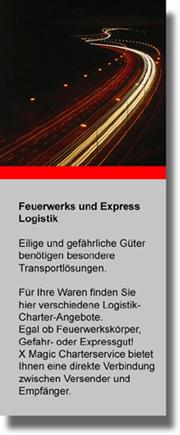 Feuerwerks-Logistik